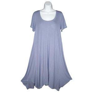 Anthropologie Bordeaux L A-line Jersey Dress Swing